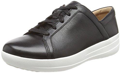 Fitflop F-sporty Ii Lace Up Sneakers, Scarpe da Ginnastica in Pelle Donna, Nero (Black 001), 38 EU