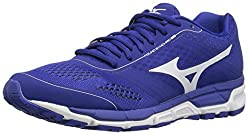 Mizuno Mens Synchro Mx Baseball Shoe, Royal White, 7.5 D US