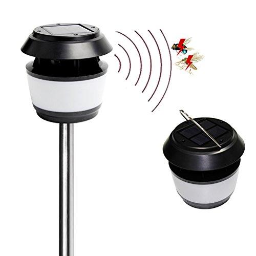 LEDMOMO Portable Solar Bug Zapper Außen Straßenlaterne Wasserdicht Nachtlicht Hängenden Solar Laternen Lampenschirme Mückenschutz Lampe für Garten Hof - Im Laternen Freien Hängenden