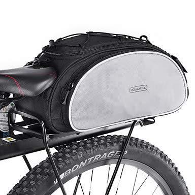FSD-MJ 13 L Fahrradträger Tasche Reflektierende Wasserdichte Wasserflasche Pocket Bike Bag Polyester Fahrrad Tasche Zyklus Tasche Radfahren/Bike, Schwarz (Bag Rack Radfahren)
