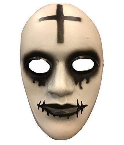 La Purga Anarquía Película Halloween Máscara 'Cruzado' LUJO fibra de vidrio con / Ajustable Tira y hebilla