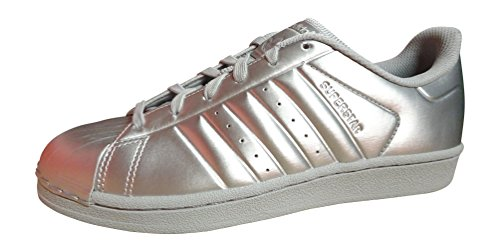 Superstar white Sneaker Turnschuhe Blau BB4876 BB1461 Originals silver adidas Schuhe metallic qfwgza