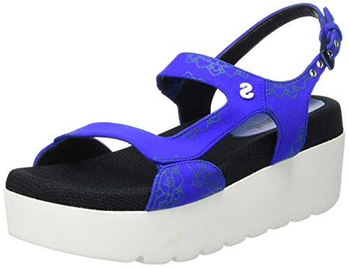 Desigual Shoes_koh 1, Sandales à plateforme femme Bleu - Blau (5006 JEANS)