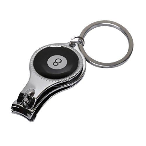 Homyl Nagelknipser Schlüsselanhänger mit Schlüsselringe - Schwarz