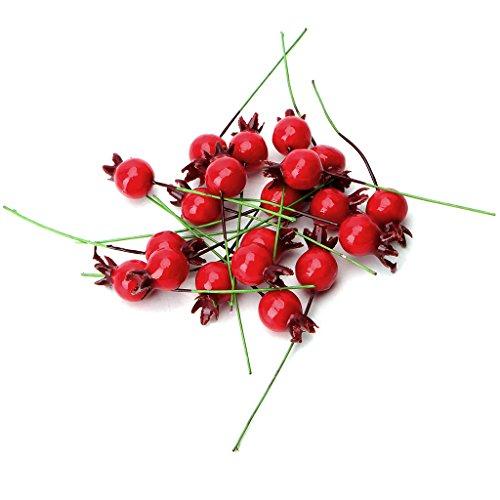 Lamdoo 20 Stücke Mini Gefälschte Glatte Granatapfel Obst Künstliche Hochzeit Weihnachtsdekor -