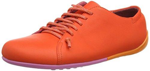 Camper Supersoft Spicy/Circuit Limey-Monoi, Baskets Basses Femme Orange (Bright Orange)
