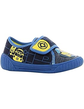 Minions Boys Kids Houseshoes Velcro Low, Zapatillas de Estar por casa para Niños