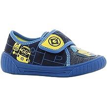 Minions Boys Kids Houseshoes Velcro Low, Zapatillas de Estar por casa para Niños