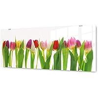 Glasbilder Wandbild Druck auf Glas 125x50 Tulpen Pflanzen