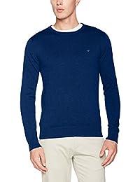 TOM TAILOR Herren Pullover Basic Crew-Neck Sweater