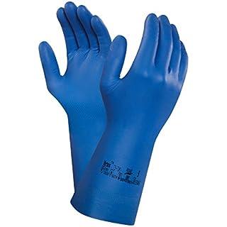 Ansell Virtex 79-700 Nitril Handschuhe, Chemikalien- und Flüssigkeitsschutz, Blau, Größe 7 (1 Paar pro Beutel)