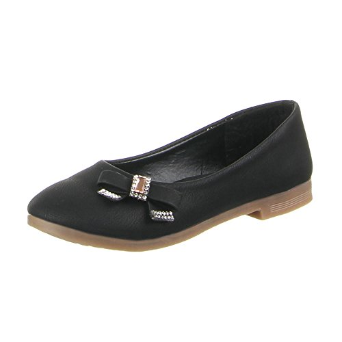 Kinder Schuhe, B-12-1, BALLERINAS Schwarz