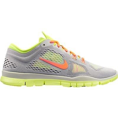 Nike Free 5.0 TR FIT 4 Women Laufschuhe light base grey-atomic orange-volt-medium base - 36