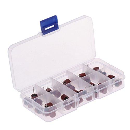 F Fityle 50pcs / Set ABS Sicherung Sortiment Kit Miniatur TR5-Serie 250V Micro Fuse / Sicherung Träge für Computer-Systeme