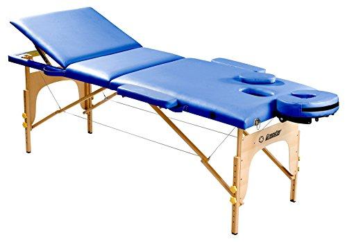 Gregster Massageliege, höhenverstellbar, Holz, PU-Leder, 5cm Feinzellschaumstoff, belastbar bis 200kg, klappbar inkl. Tragetasche