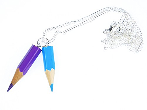 Buntstift Kette Halskette Einschulung Miniblings Malen Schule Upcycling 60cm