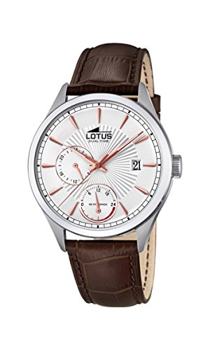 Lotus Watches Mens Multi dial Quartz Watch with Leather Strap 18577/1