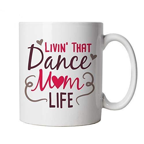 Livin' That Dance Mom Leben Becher Muttertag Beste Mutter Top Parent Family Mumlife Cheerleader Unterstützung Coach Geburtstag Weihnachten Geschenk Sie Ehefrau Partner Verlobter Sister