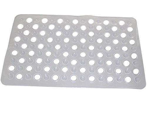 WARRAH Pebble disegno di gomma stuoia di bagno idromassaggio Mat Sanità piede di pulizia Tappetino per vasca o doccia -Natural gomma vasca da bagno non stuoia di slittamento aggiunta -Il migliore sicurezza per la vostra doccia o vasca da bagno con accogliente bolla Grip piede Colore Hollow White - Vasca Idromassaggio Termometro