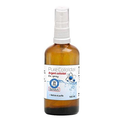 Spray Argent Colloïdal 25 ppm 100 ml -Fabricant Français depuis 2009