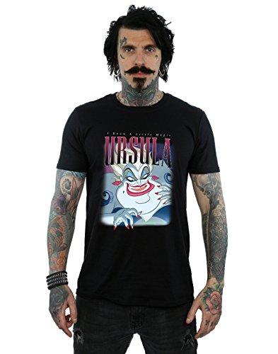 Disney Herren The Little Mermaid Ursula Montage T-Shirt Schwarz Medium