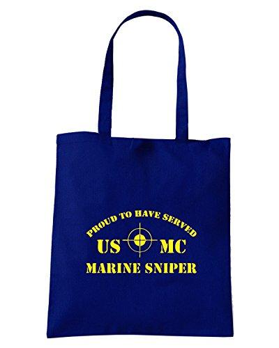 T-Shirtshock - Borsa Shopping OLDENG00342 marine sniper Blu Navy