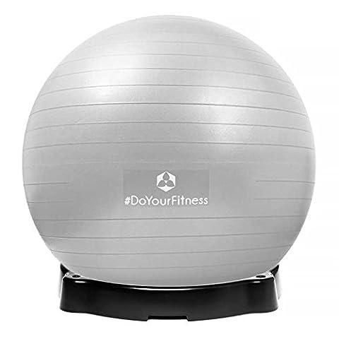 Gymnastikball »Orion« inklusive Ballschale / Robuster Sitzball und Fitnessball / 75 cm / silber inklusive Sitzschale