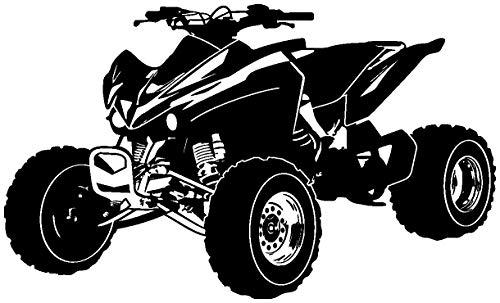 Samunshi® Wandtattoo Quad Wandaufkleber ATV in 10 Größen und 19 Farben (120x72cm schwarz)