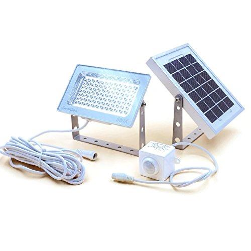 Lampione solare di sicurezza GUARDIAN 580X con sensore di movimento PIR autonomo e batteria al litio, 730 lumen di luminosità massima, 3 modalità di illuminazione