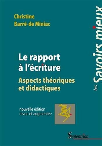 Le rapport  l'criture : Aspects thoriques et didactiques