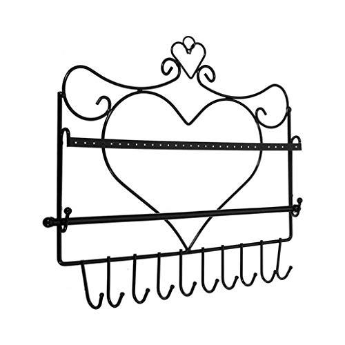 Cdrox Herz-Metallschmucksache-Anzeigen-Regal Halskette hängender Haken-Armband-Halter Ohrring zeigt Rack-Haar-Riegel-Aufbockvorrichtung