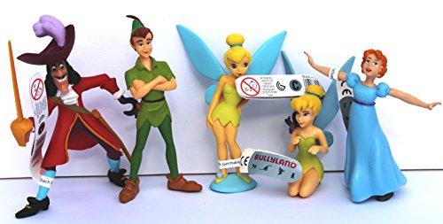 bullyland-disney-peter-pan-set-5-figures-peter-pan-wendy-tinkerbell-captain-hook-by-bullyland