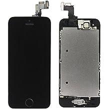 Ll Trader negro Pantalla para iPhone 5S Pantalla LCD Touch Screen Digitizer partes de repuesto (con Home Botón, Cámara, Sensor Flex) Herramientas incluidas