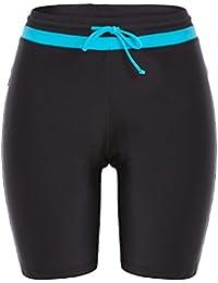 32f0e0980ae62 Avellara Damen Badeshorts Badehose Damen Lang Schwimmshorts Schwimmhose  Wassersport Boardshorts UV Schutz