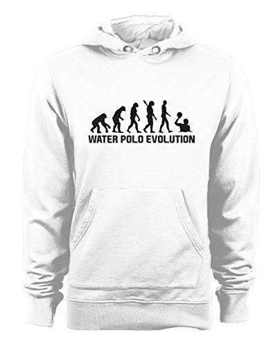 Felpa con cappuccio Water Polo Evolution - evolution - water polo - pallanuoto - sport - humor - in cotone Bianco