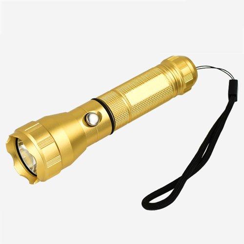 Flashlighx Super lumineux 400 Lumens LED lampe de poche Résistant à l'eau 3 Modes Haute / Basse / Strobe Pocket Torch Portable Lumière de poche pour l'intérieur et l'extérieur (Camping, Randonnée, Cyclisme et d'urgence)
