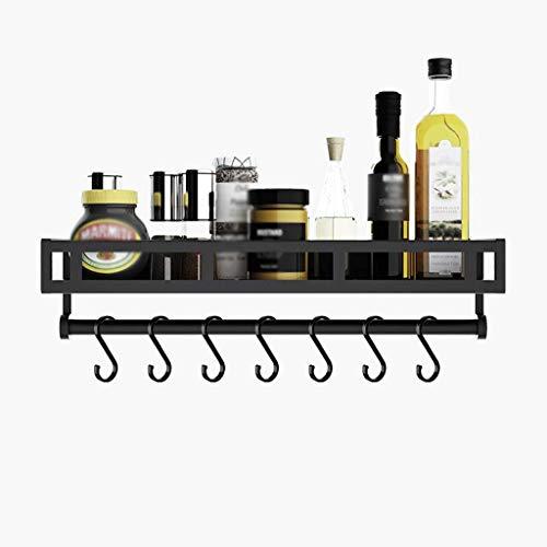 GONGFF G Küchenregal Aluminium-Wandregal Sparen Sie Platz und Laden Sie (Farbe: Mit Haken 50)