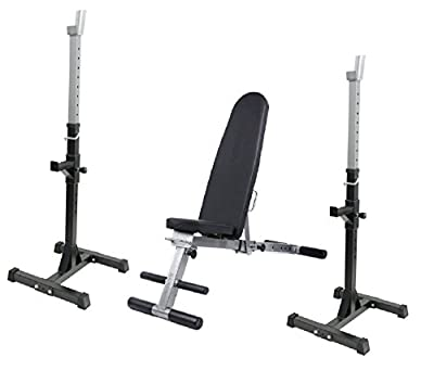 Weight Training Bench & Rack Set Complete Weight Bench Set by UK Fitness
