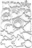 Kaiser Ausstechformen 25-teilig, Keksausstecher Weihnachten, Plätzchen Ausstecher unterschiedliche Größen, Cookie Cutter