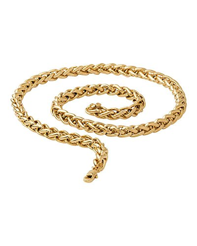 Men/Boys Rope Pattern Bright Golden Plated Chain