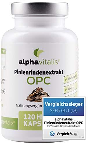 Der VERGLEICHSSIEGER 2019*: 500 mg Pinienrindenextrakt mit OPC je Kapsel + natürliches Vitamin C - ohne Magnesiumstearat - laborgeprüft - 120 vegane Kapseln - hochdosiert EINWEG
