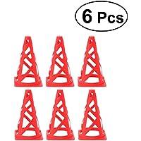 VORCOOL Conos de Marcador Plástico Plegable Conos Marcador para Baloncesto Fútbol Footwork Footwork Rojo (Set de 6)