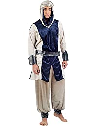 Elbenwald Desert Prince Costume Carnival/Party Mens 3tlg, Turban, Frock Trousers With Belt