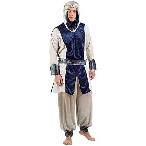Déserts Prince costume pantalon 3pièces, Turban, Redingote avec ceinture de Carnaval et Party - multicolore - Large