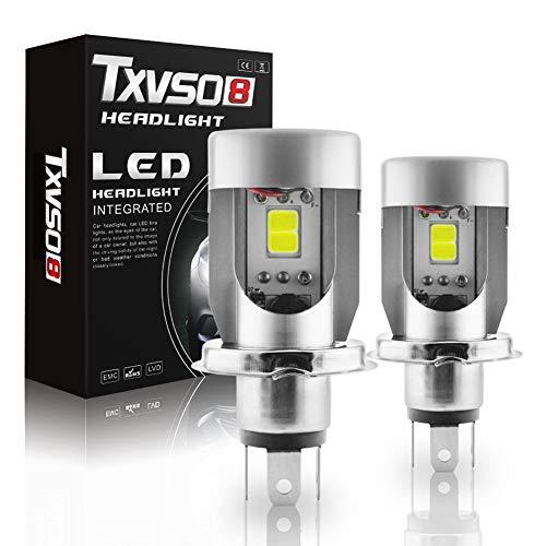 ANAN H4 Scheinwerferlampe,6000K 9V-32V 100W 10000LM T4-Serie Fern- / Abblendlicht Autolampen 2Stk -