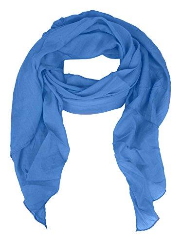 Seiden - Tuch für Damen in Uni-Farben von Zwillingsherz (blau)