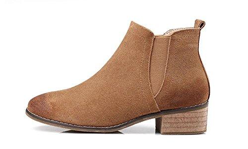 KUKI Stivali da donna, pelle, Inghilterra, vintage, stivaletti, tacchi a spillo, stivali da donna camel