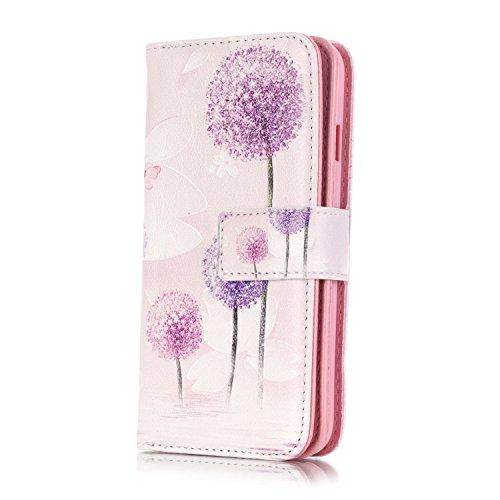 iPhone 7 Coque Flip Case,iPhone 7 Coque Cuir,iPhone 7 Leather Case Wallet Flip Protective Cover Protector,iPhone 7 Coque Fleur Etui,iPhone 7 Coque Portefeuille PU Cuir Etui, EMAXELERS Bling Cristal Ca Hearts 2