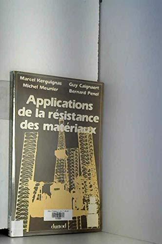 APPL RESISTANCE MATERIAUX par Kerguignas