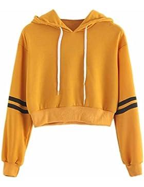 K-youth® Sudadera Cortas con Capucha Para Mujer, Sudaderas Para Mujer Hoodie Blusa Camiseta de Manga Larga Tops...